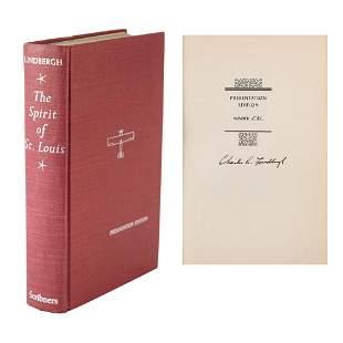 Charles Lindbergh Signed Book