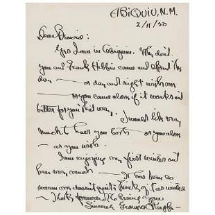 Georgia O'Keeffe Autograph Letter Signed
