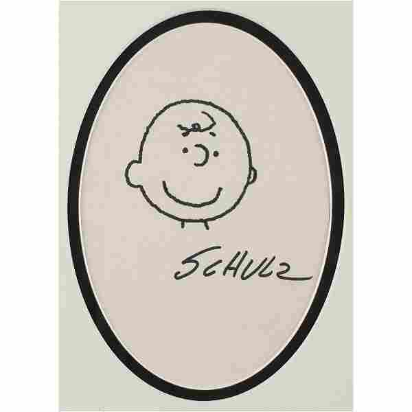 Charles Schulz Original Sketch of Charlie Brown