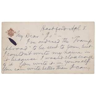 Samuel L. Clemens Autograph Letter Signed
