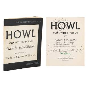Allen Ginsberg Signed First Edition of Howl (Annotated