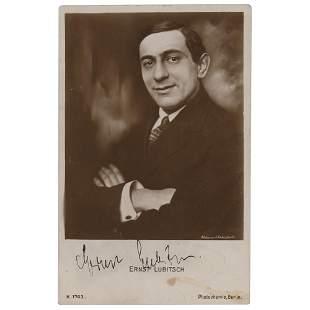 Ernst Lubitsch Signed Photograph