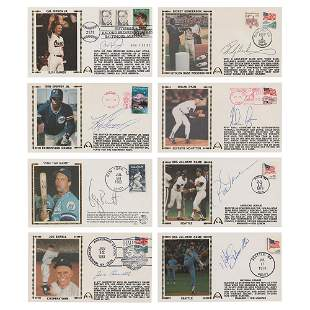 Baseball Hall of Famers (8) Signed Covers