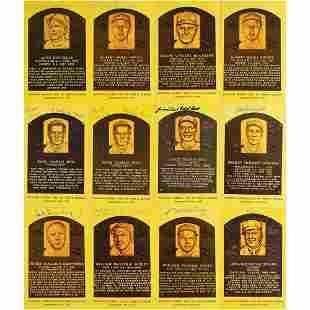 Baseball Hall of Famers (12) Signed HOF Cards