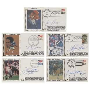 Football Running Backs (5) Signed Covers