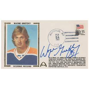 Wayne Gretzky Signed Cover