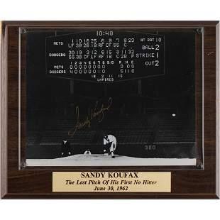 Sandy Koufax Signed Photograph