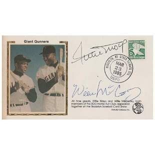 Willie Mays and Willie McCovey Signed Cover