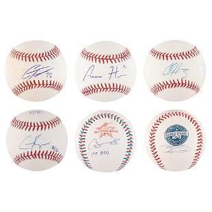 NY Yankees: Modern Stars (6) Signed Baseballs