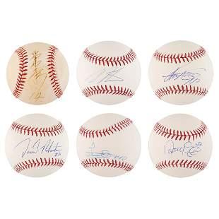NY Yankees: Pitchers (6) Signed Baseballs