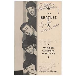 Beatles Signed Program