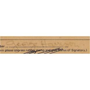 Beatles: George Harrison Document Signed