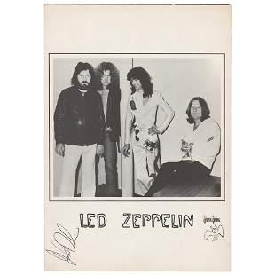 Led Zeppelin: John Bonham Signed Booklet