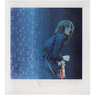 Led Zeppelin: Jimmy Page Signed Print