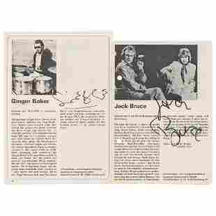 Cream: Ginger Baker and Jack Bruce Signed Photographs