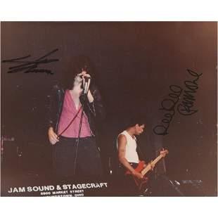 Joey and Dee Dee Ramone Signed Photograph