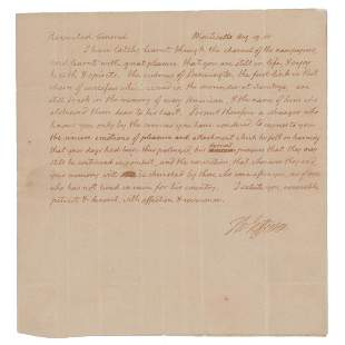 Thomas Jefferson Autograph Letter Signed as President