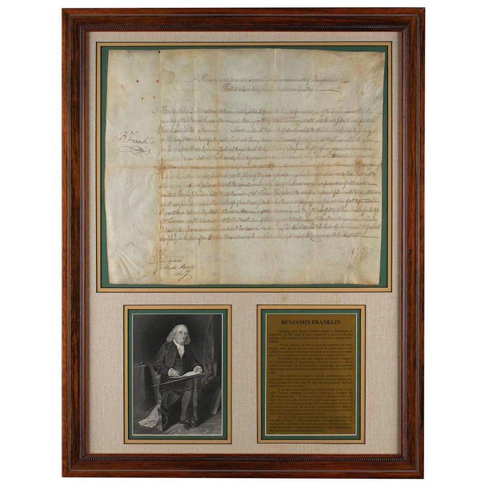 Benjamin Franklin Document Signed