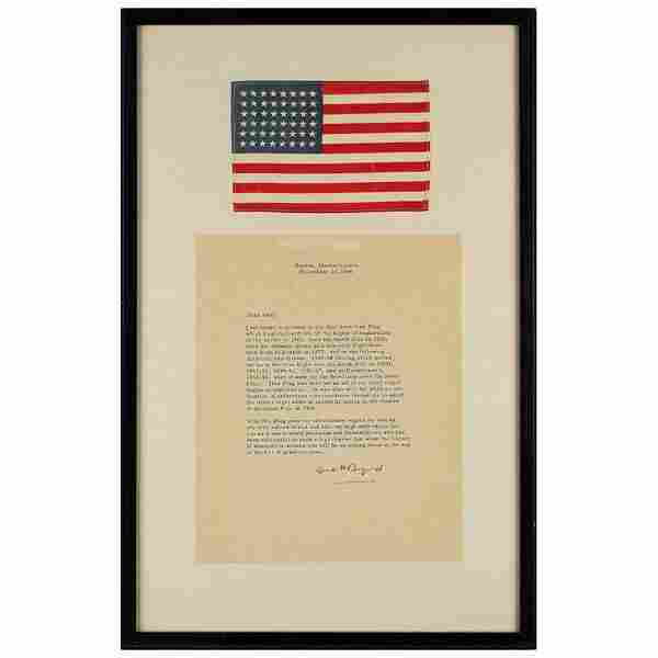 Richard E. Byrd Typed Letter Signed and Flown Flag