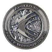 Al Worden's Unflown Apollo 15 Robbins Medallion