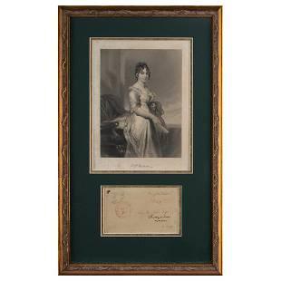 Dolley Madison Signed Free Frank