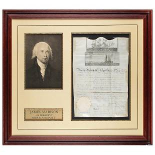 James Madison Document Signed as President