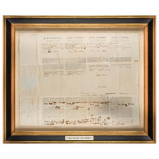 James Madison and James Monroe Document Signed