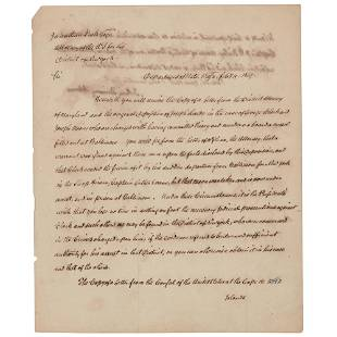 John Quincy Adams Letter Signed