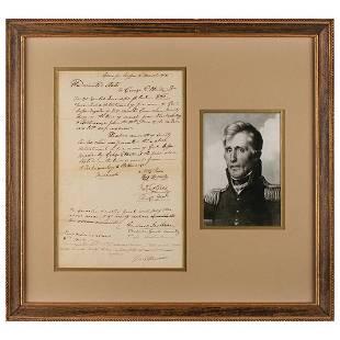 Andrew Jackson Autograph Endorsement Signed