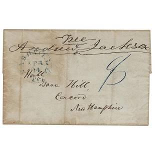 Andrew Jackson Signed Free Frank