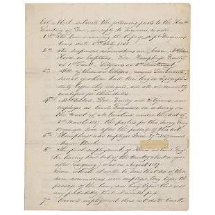 Martin Van Buren Autograph Endorsement as President