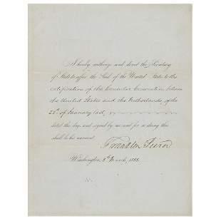 Franklin Pierce Document Signed