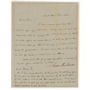 James Buchanan Autograph Letter Signed