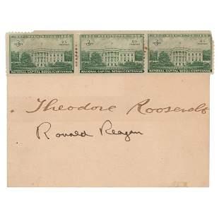 Theodore Roosevelt and Ronald Reagan Signatures