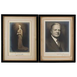 Herbert and Lou Henry Hoover Signed Photographs