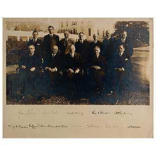 Herbert Hoover and Cabinet Signed Photograph