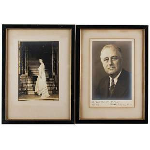 Franklin and Eleanor Roosevelt Signed Photographs