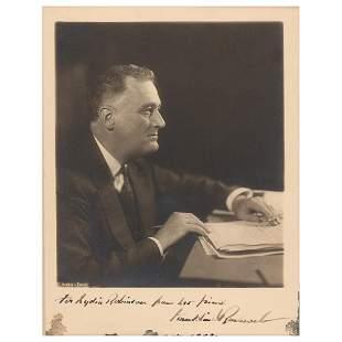 Franklin D. Roosevelt Signed Photograph