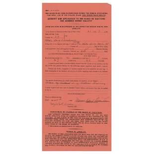 Mamie Doud Eisenhower Document Signed