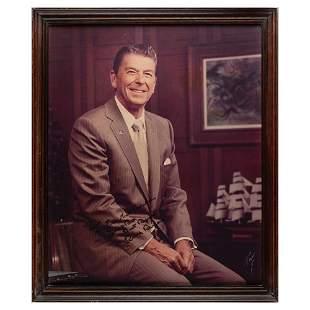 Ronald Reagan Signed Oversized Photograph