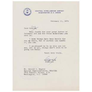 George Bush Typed Letter Signed