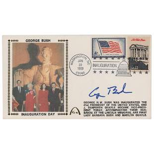 George Bush Signed Inauguration Day Cover
