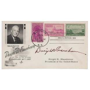 Dwight D. Eisenhower Signed Inauguration Day Cover