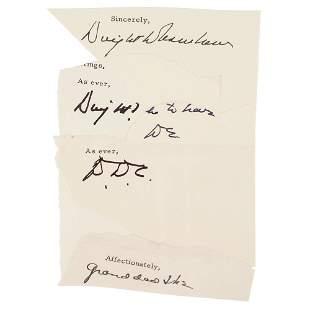 Dwight D. Eisenhower (5) Signatures