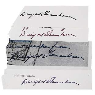 Dwight D. Eisenhower (4) Signatures