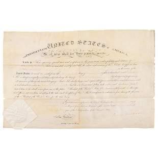 James Monroe Document Signed as President