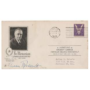 Eleanor Roosevelt Signed Commemorative Cover
