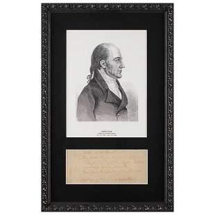 Aaron Burr Autograph Check Signed