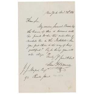 Samuel F. B. Morse Autograph Letter Signed