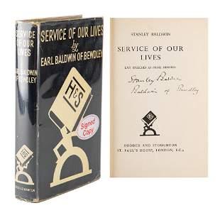 Stanley Baldwin Signed Book